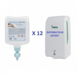 Pack de 12 Aniosgels 1L CPA + Distributeur Automatique...